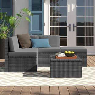 Ellie 4 Seater Rattan Corner Sofa Set By Zipcode Design