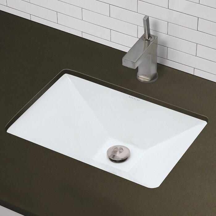 DECOLAV Amabella Clically Redefined Ceramic Rectangular ... on top mount bathroom sinks, granite bathroom sinks, vessel sinks, long bathroom sinks, unique bathroom sinks, copper bathroom sinks, weird bathroom sinks, glass bathroom sinks, oceana sinks, modern bathroom sinks, kohler bathroom sinks, vanity bathroom sinks, wall mounted bathroom sinks, overmount bathroom sinks, drop-in bathroom sinks, integrated bathroom sinks, bath sinks, large bathroom sinks, rustic bathroom sinks, pedestal sinks,