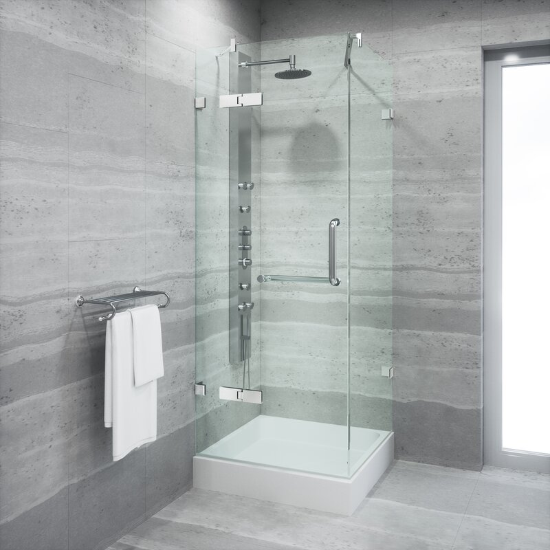 Vigo Monteray 36 X 36 In Frameless Shower Enclosure With 375 In