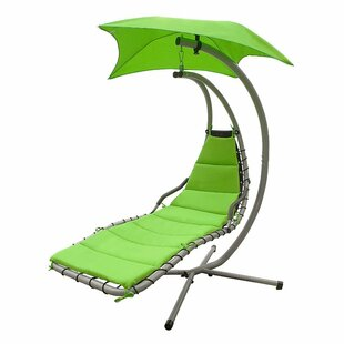 Freeport Park Iris Arc Hanging Chaise Lounger with Stand