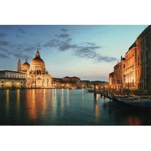 4dfde158853 LED Lighted Venice City Italy Sunset Scene Photographic Print on Canvas