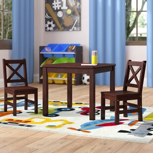 Deals Myona Kids 3 Piece Square Table and Chair Set ByHarriet Bee