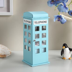 Reviews British Telephone Booth Leather Jewelry Box By Zoomie Kids