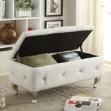 Victoria Upholstered Flip Top Storage Bench by House of Hampton
