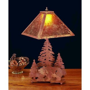 Grizzly Bear Through The Trees 21 Table Lamp