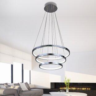 Creighton 3-Light LED Geometric Chandelier by Orren Ellis