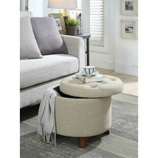 Sobel Upholstered Tufted Storage Ottoman by Canora Grey