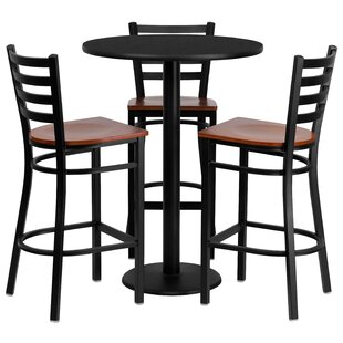 Abrar 4 Piece Pub Table Set Red Barrel Studio