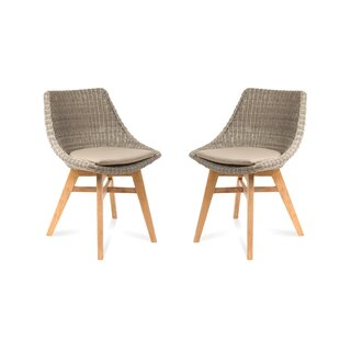 Coleman Patio Dining Chair with Cushion (Set of 2)