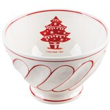 23.3 oz. Christmas Tree Footed Cereal Bowl (Set of 4)