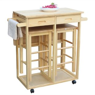 Talitha Rolling Island Kitchen Cart by August Grove