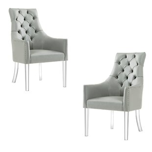 Everly Quinn Hannatou Upholstered Dining Chair (Set of 2)