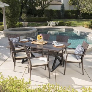 Caressa 7 Piece Dining Set with Cushions