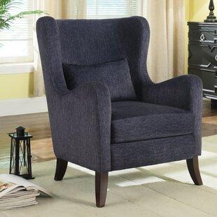 Ivy Bronx Mccaulley Dapperly Curvy Wingback Chair