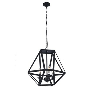 Charlton Home Orchard Hill 3-Light Geometric Chandelier