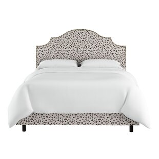 Wrought Studio Marksbury Nail Button Notched Upholstered Panel Bed