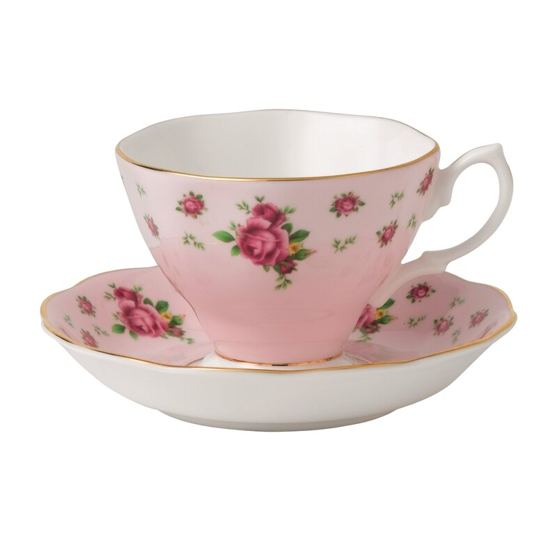Royal Albert New Country Roses Formal Vintage Teacup and  : NewCountryRosesFormalVintageTeacupandSaucer from www.wayfair.com size 800 x 800 jpeg 34kB