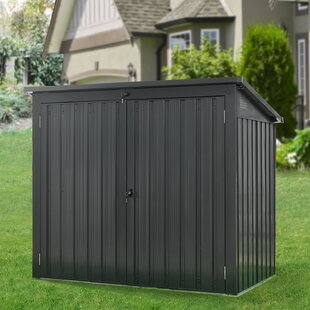 5 Ft. 2 In. W X 3 Ft. 4 In. D Metal Horizontal Garbage Shed By Hanover