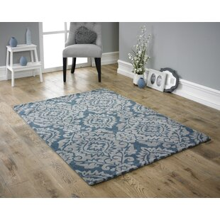 Arran Hand Tufted Wool Blue/Grey Rug by Longweave