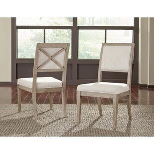 Amina Upholstered Wood Dining Chair (Set of 2) One Allium Way