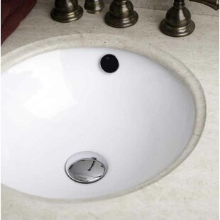 Best Choices Ceramic Circular Undermount Bathroom Sink with Faucet and Overflow By Royal Purple Bath Kitchen