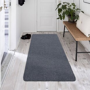 Windle Ribbed Gray Indoor/Outdoor Area Rug