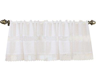 "Orly Rod Pocket Ruffled 60"" Curtain Valance Lark Manor Color: White"