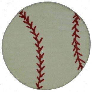Great deal Fun Shape High Pile Baseball Sports Area Rug ByFun Rugs