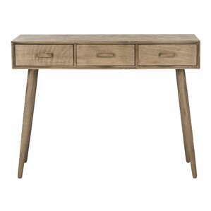 Cremeans 3 Drawer Console Table