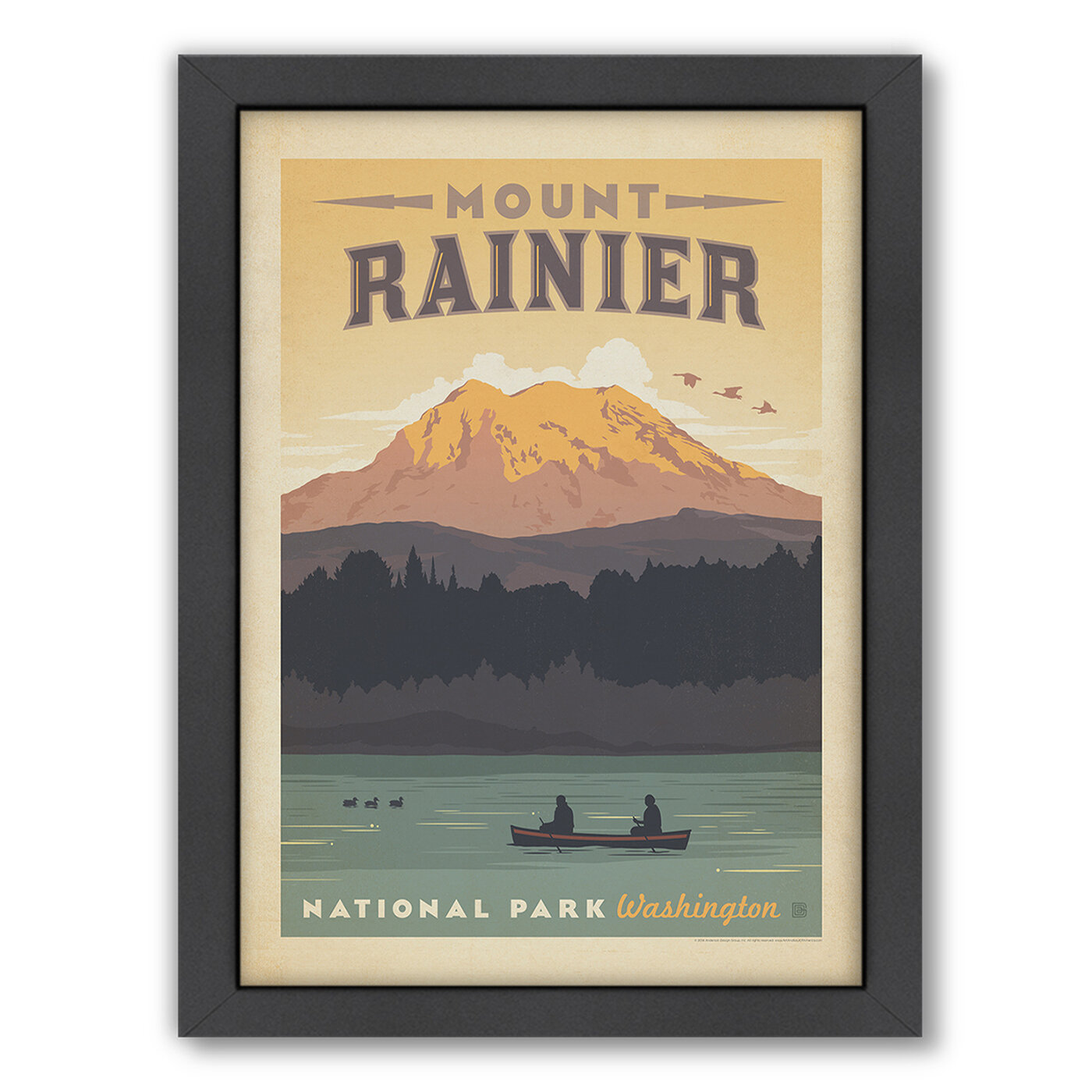 East Urban Home National Park Mount Rainier Framed Vintage Advertisement By Anderson Design Group Reviews Wayfair