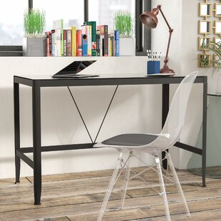 Zapata Glass Writing Desk by Ebern Designs Fresh