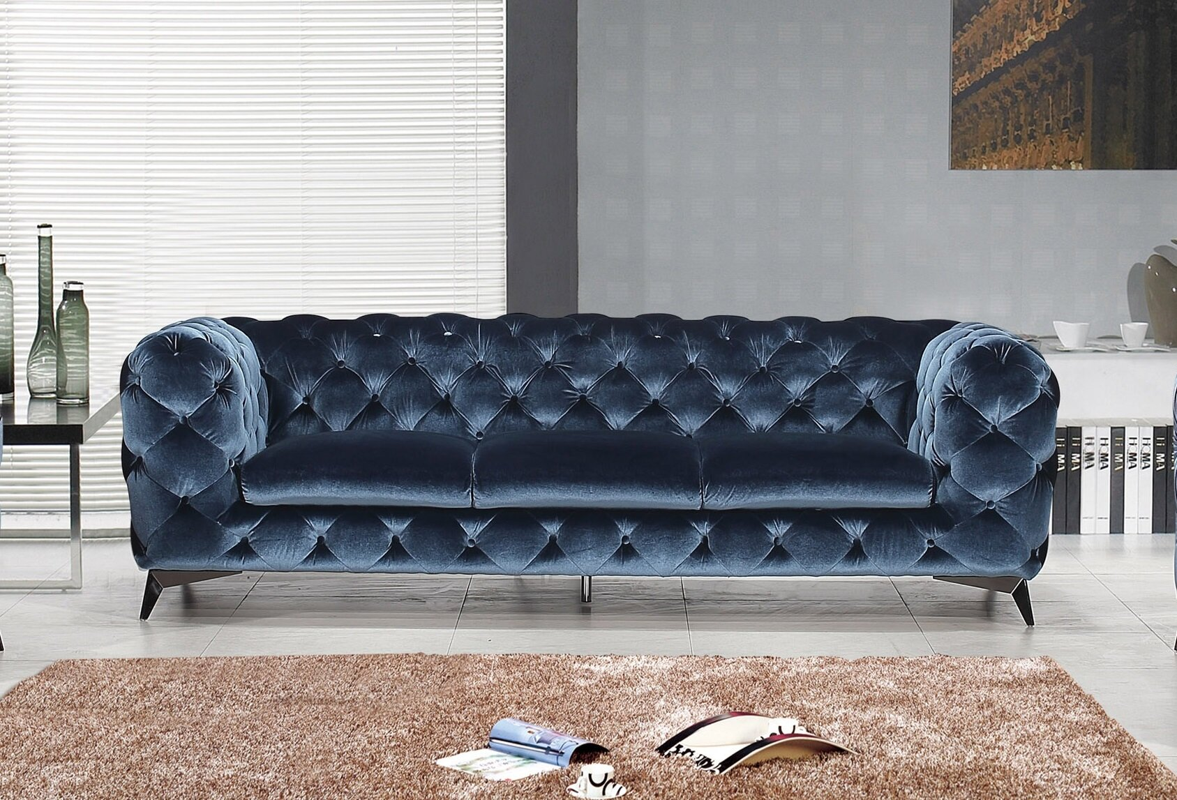 Everly Quinn Vennie Upholstered Chesterfield Sofa Wayfair Ca