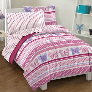 Butterfly Dots Comforter Set