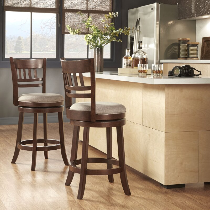 Heartwood 24  Swivel Bar Stool & Three Posts Heartwood 24