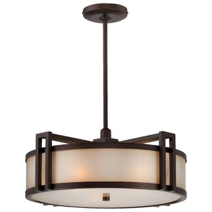 Metropolitan by Minka Underscore 3-Light Drum Chandelier