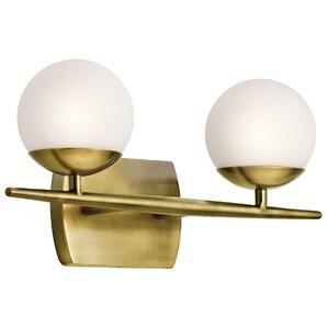 Bathroom Light Fixtures Mid Century Modern mid-century modern bathroom vanity lighting you'll love | wayfair