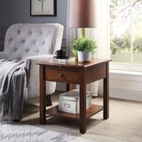 Strunk 1 Drawer End Table with Storage by Alcott Hill®