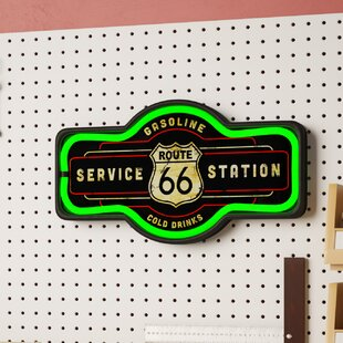 Route 66 LED Marquee Sign by Winston Porter