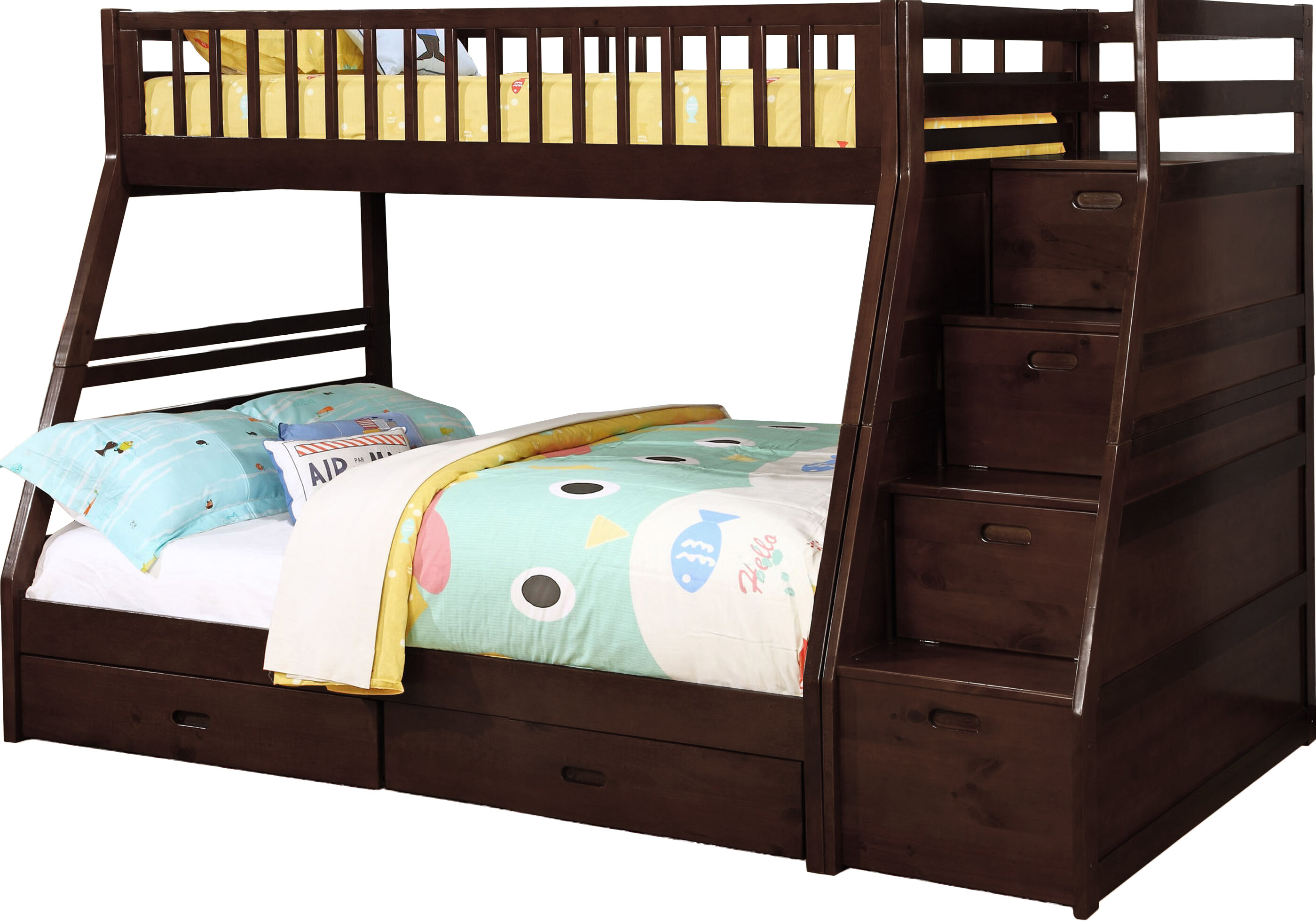 Picture of: Pierre Twin Over Full Bunk Bed With Drawers Reviews