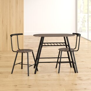 Hesser Dining Set With 2 Chairs By 17 Stories