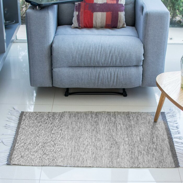Crafted Grey Skies Expertly Hand Woven Mexican Wool Home Decor Area Rug