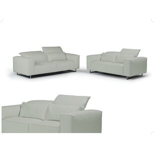 Best Reviews Giadia Leather Configurable Living Room Set by Bellini Modern Living Reviews (2019) & Buyer's Guide