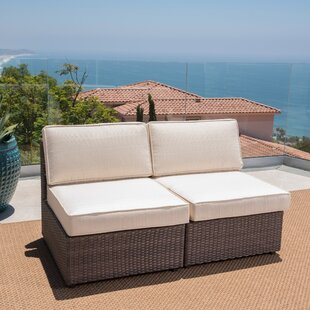 Bobbi Outdoor Patio Chair with Cushions (Set of 2)