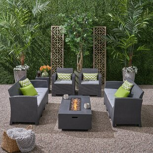 Carmen Outdoor 6 Piece Sofa Seating Group with Cushions