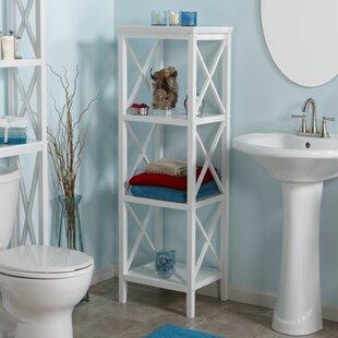 Nellis X-Frame 18.11 W x 53.86 H Bathroom Shelf