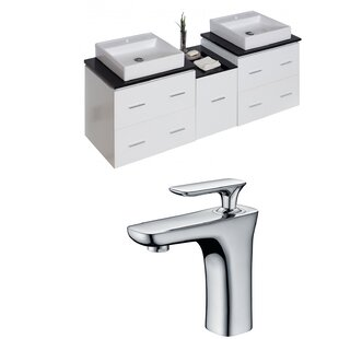 Kyra 62 Rectangle Double Bathroom Vanity Set with 5 Drawer by Orren Ellis