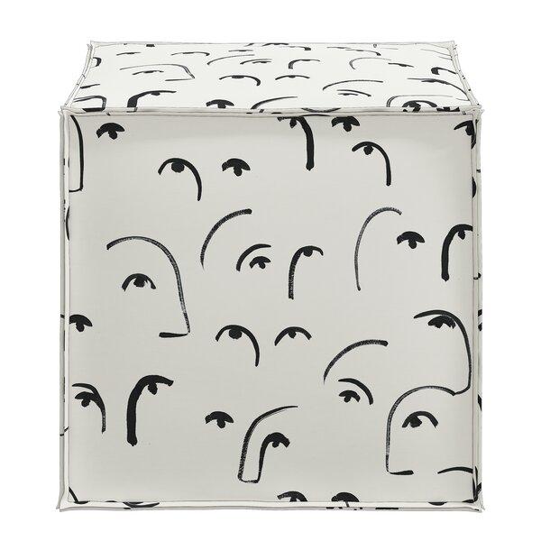 Modern Contemporary Grey Cube Ottoman Allmodern