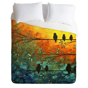 East Urban Home Birds of A Feather Duvet Cover Set