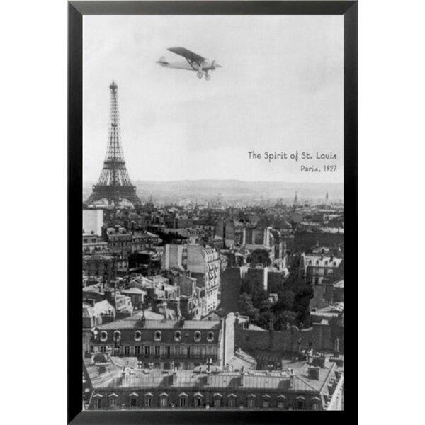 Vintage Poster 24x36 Spirit von st Louis über Paris Eiffel Tower 36505