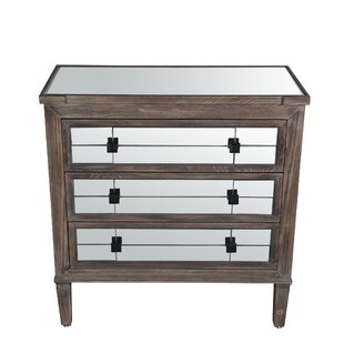 Mannford 3 Drawer Accent Chest by Bungalow Rose